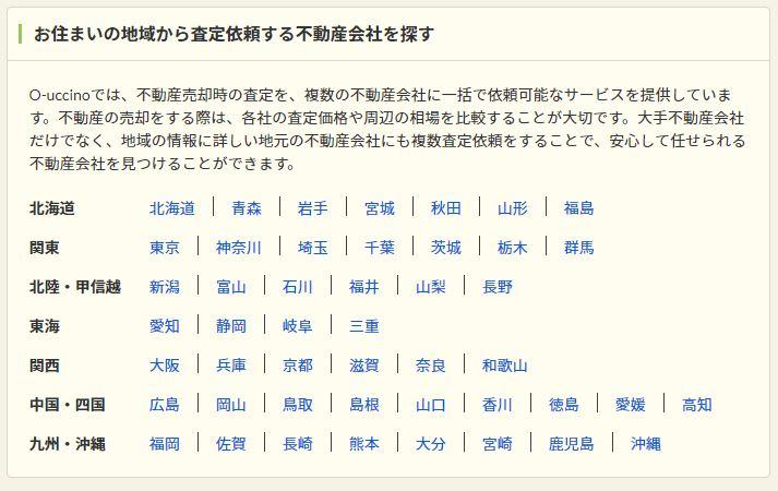 都道府県から不動産会社を探す