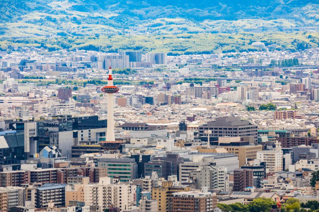 京都市の街並みの写真